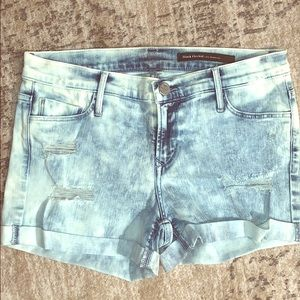 Black Orchid Acid Distressed cuffed shorts Size 28